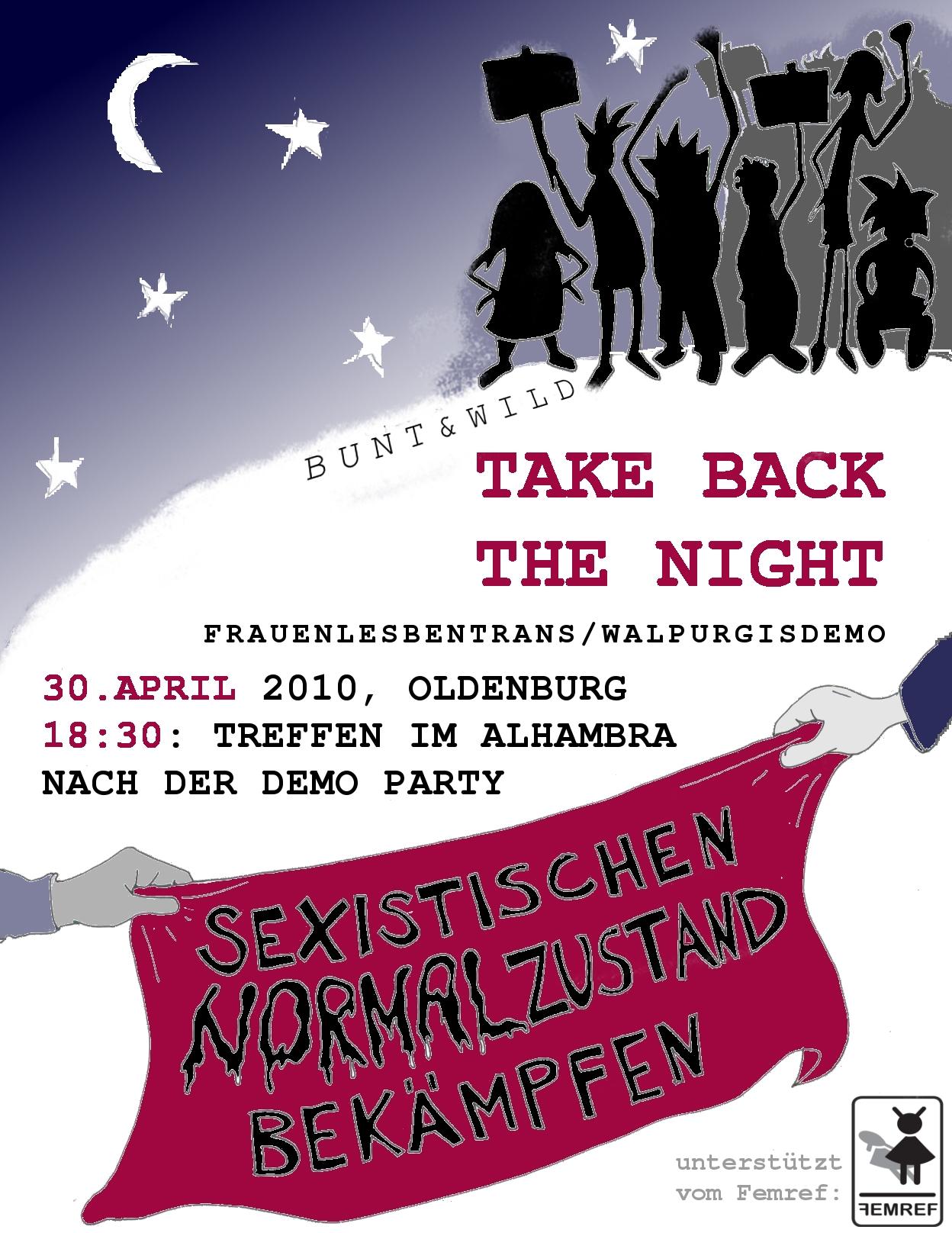 take back the night sexistischen normalzustand bek mpfen linkes vechta. Black Bedroom Furniture Sets. Home Design Ideas